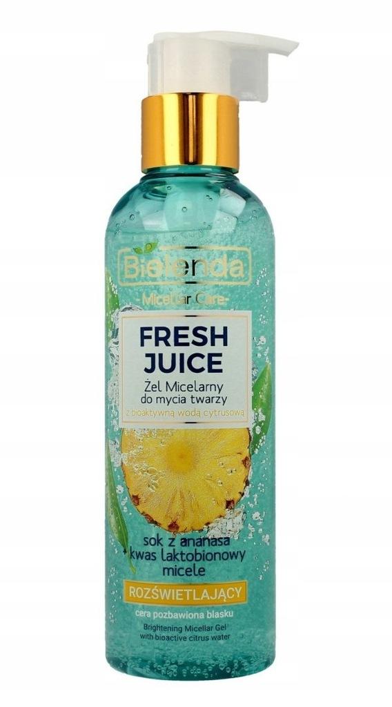 Bielenda Fresh Juice Żel micelarny rozświetlający