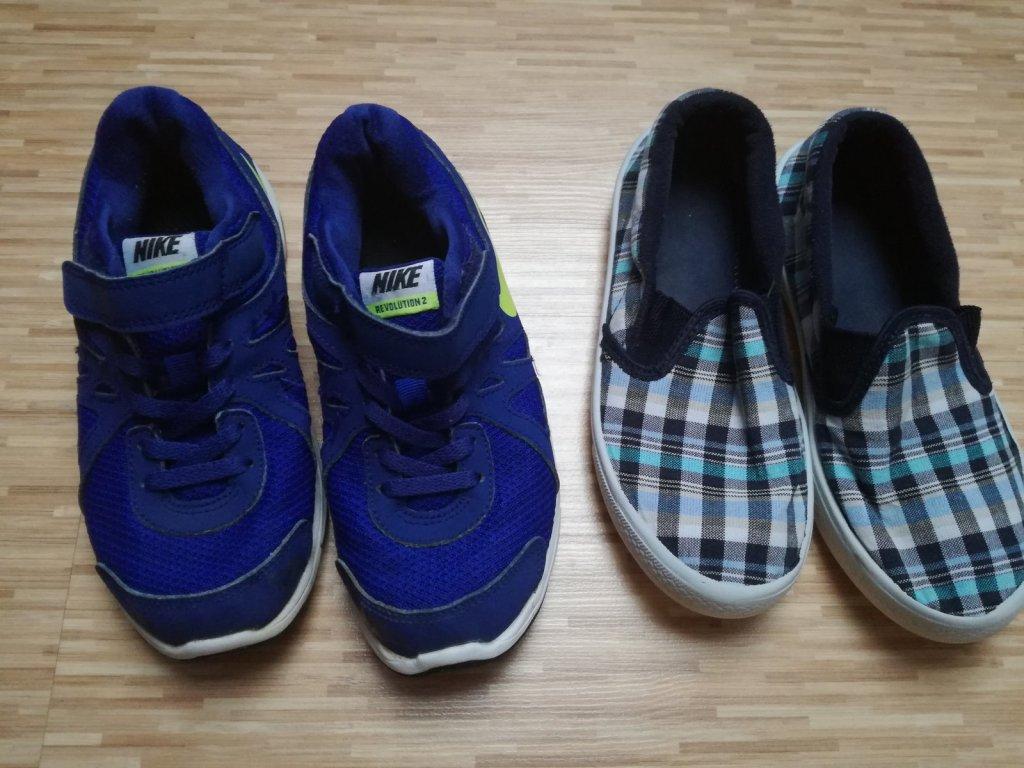 Buty Nike  rozm.32 dla chłopca, kapcie gratis