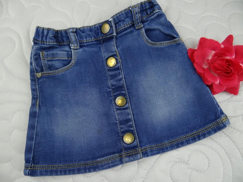 TU jeansowa spódniczka serca 18/24M 86/92cm 2W