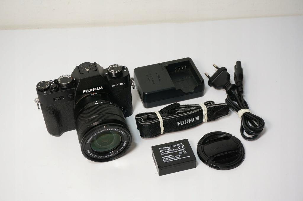 Aparat Fujifilm X-T20 + Obiektyw Fujinon 16-50