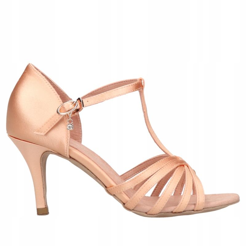 DANCELINES buty taneczne do tańca latino beżowe-38