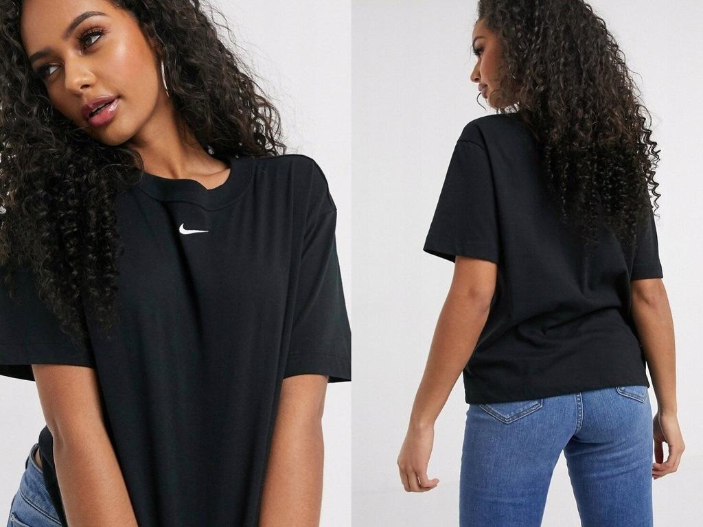Nike Czarny T-Shirt oversize z logo XL