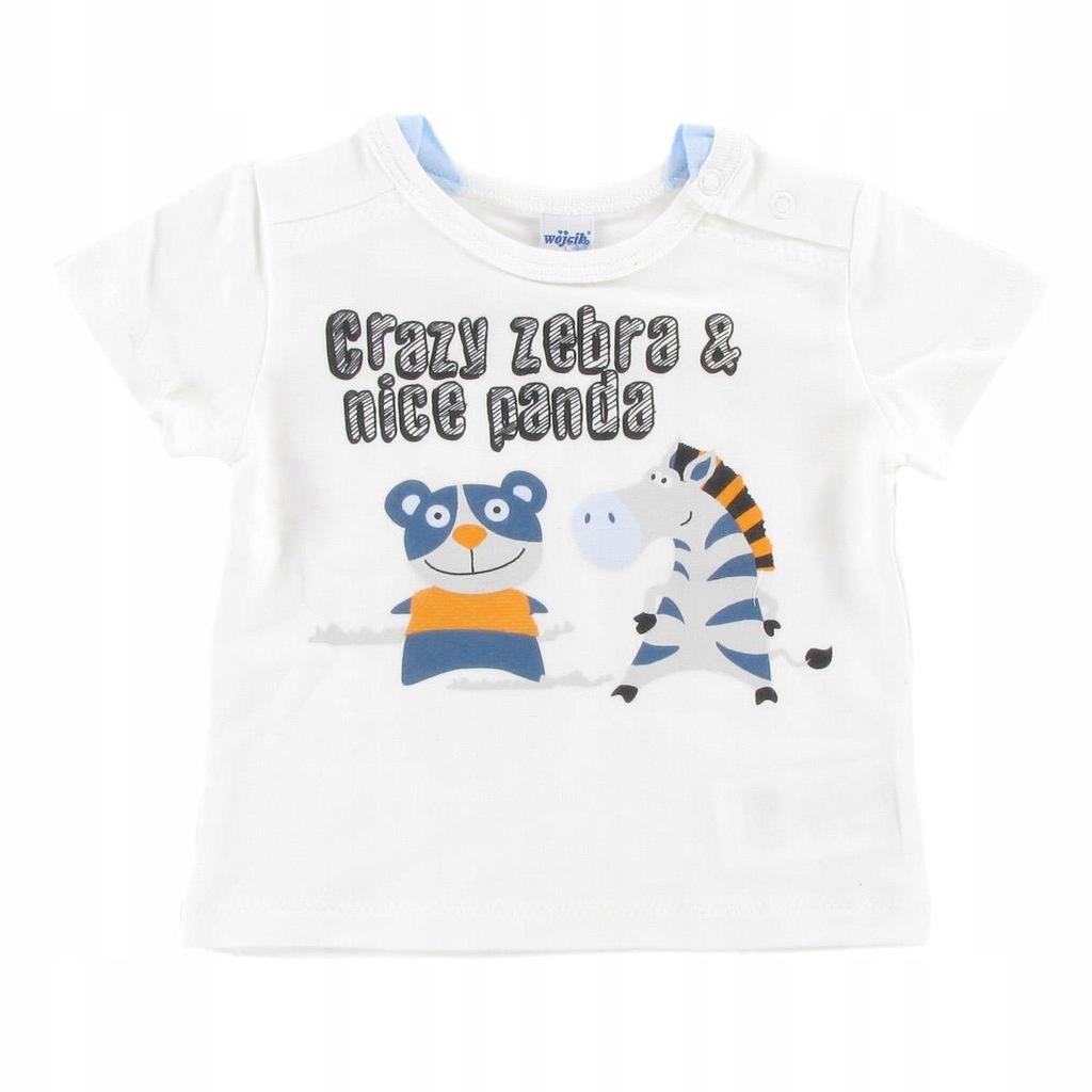 WÓJCIK Koszulka b. Panda i zebra 80