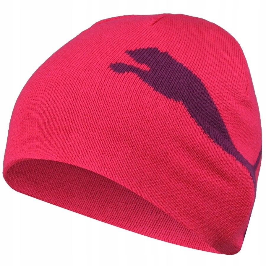 PUMA ESS BIG CAT czapka zimowa sportowa różowa 8J+