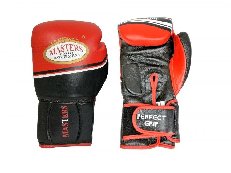 Rękawice bokserskie RBT-LF 14 oz czarno-czerwone