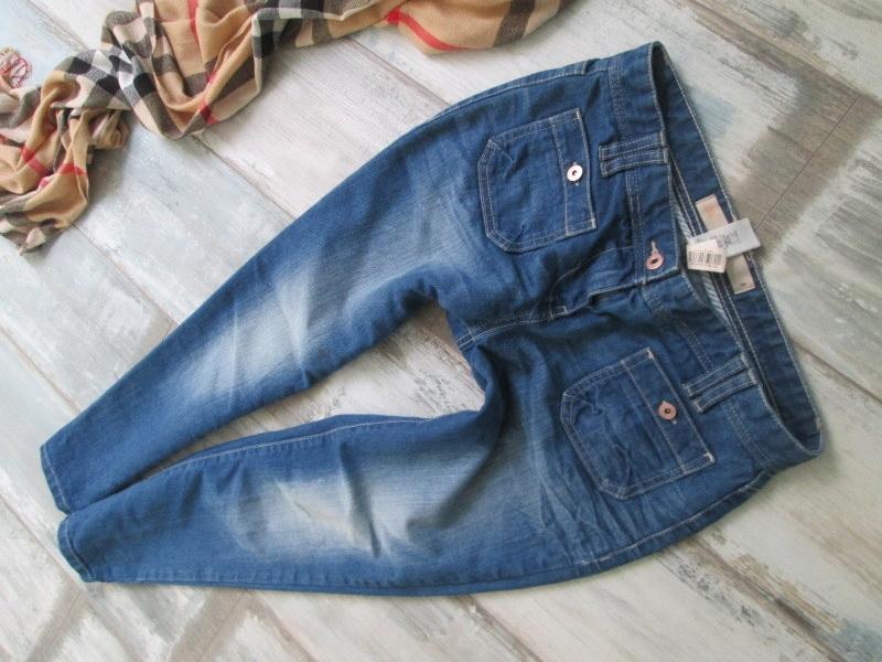 NEXT__SKINNY spodnie CROPP jeansy 7/8 RURKI__36