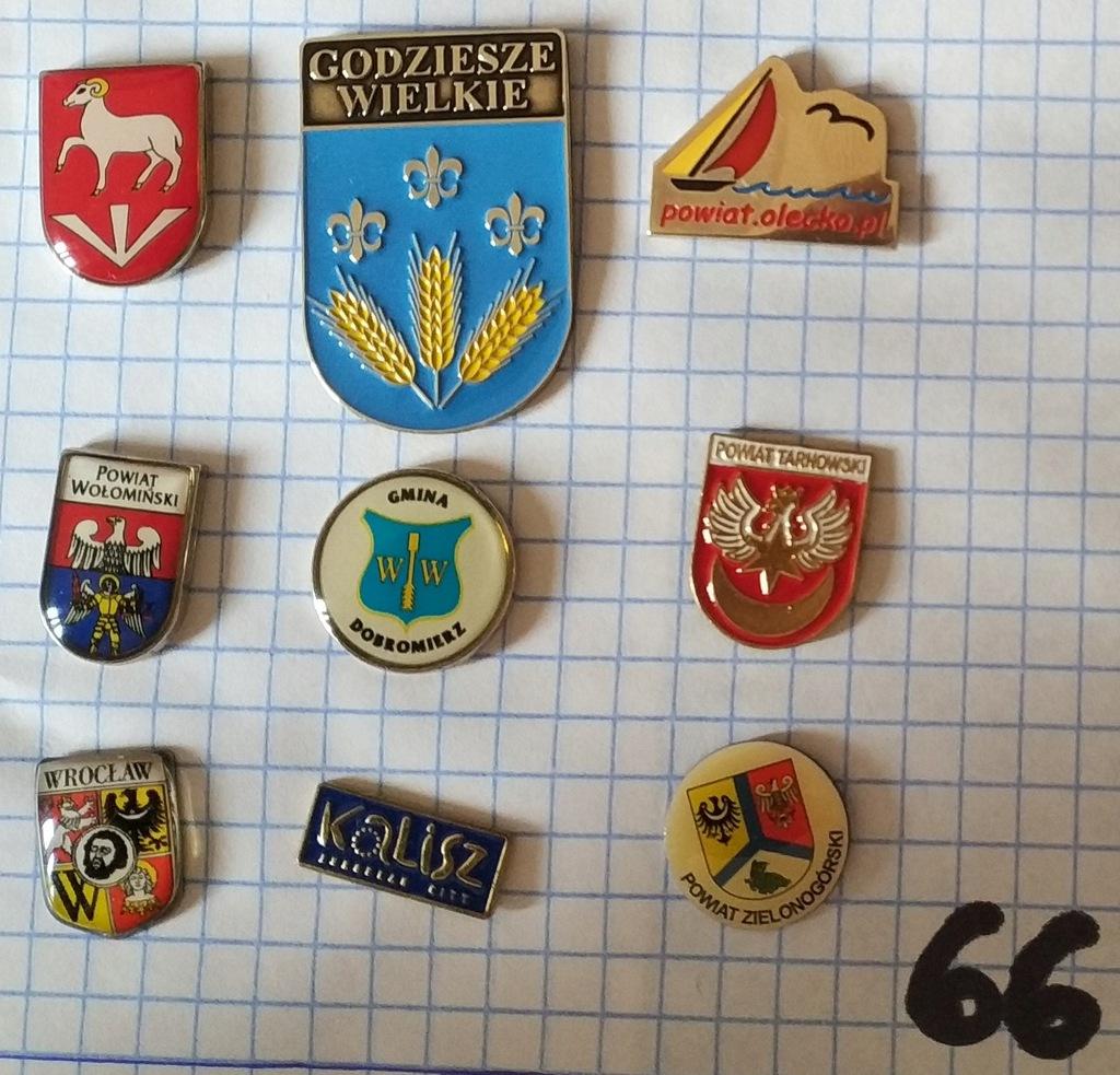 Zestaw odznak herb gmina powiat mix heraldyka 66