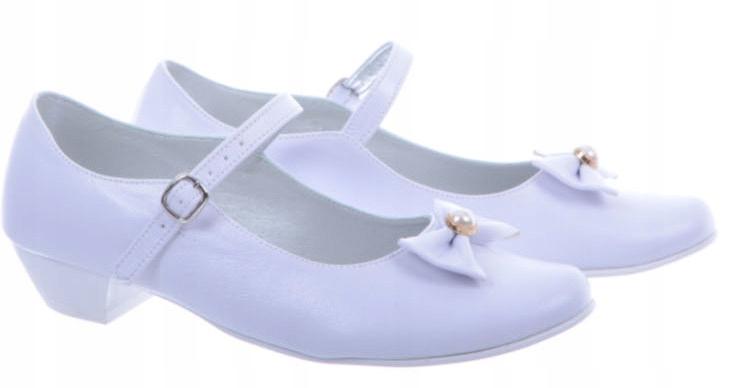 Białe tanie buty komunijne Dziewczęce 31