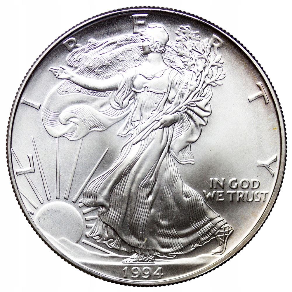 USA 1 Dolar 1994, Amerykański Orzeł, Stan 1/1-
