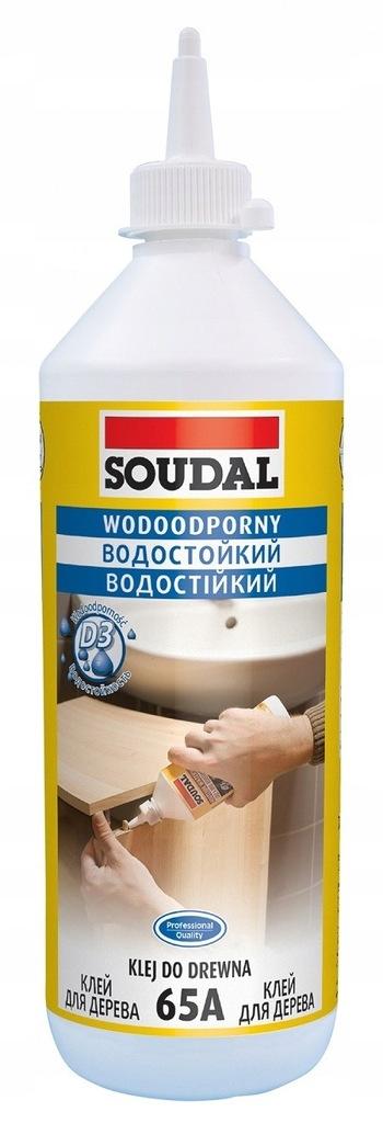 KLEJ WODOODPORNY DO DREWNA 750 ML SOUDAL 65A