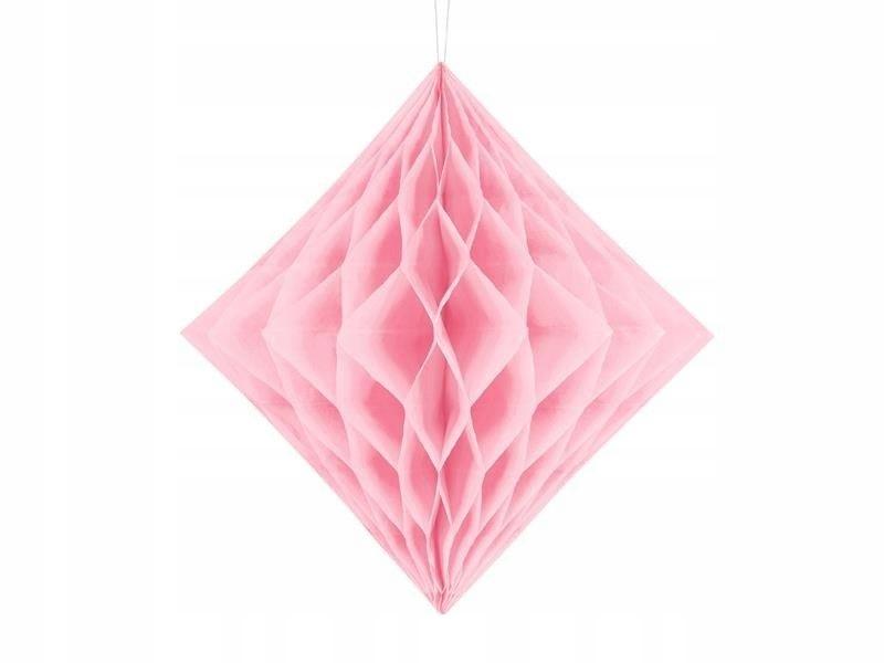 Diament bibułowy, jasny różowy, 30cm