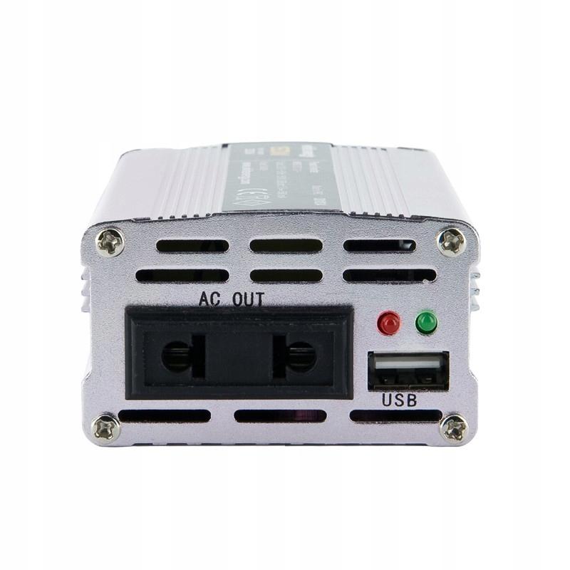 Przetwornica samochodowa DC12 V-AC230V 150W USB