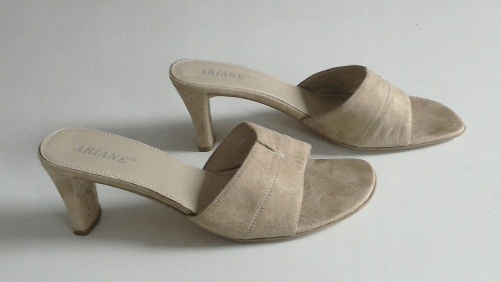 Sandałki klapki beżowe Deichmann R. 40