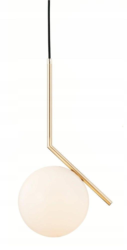 Lampa wisząca HALM 30 - mosiądz, szkło