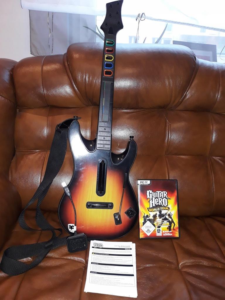 Guitar Hero Pc Gitara Plus Gra Gh World Tour 7894985819 Oficjalne Archiwum Allegro