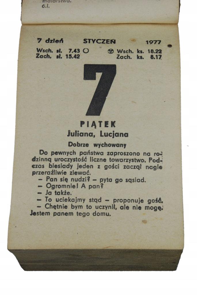 43 urodziny prezent kartka kalendarz zdzierak 1977
