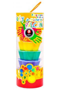 Farby do malowania palcami tuba 8 kolorów
