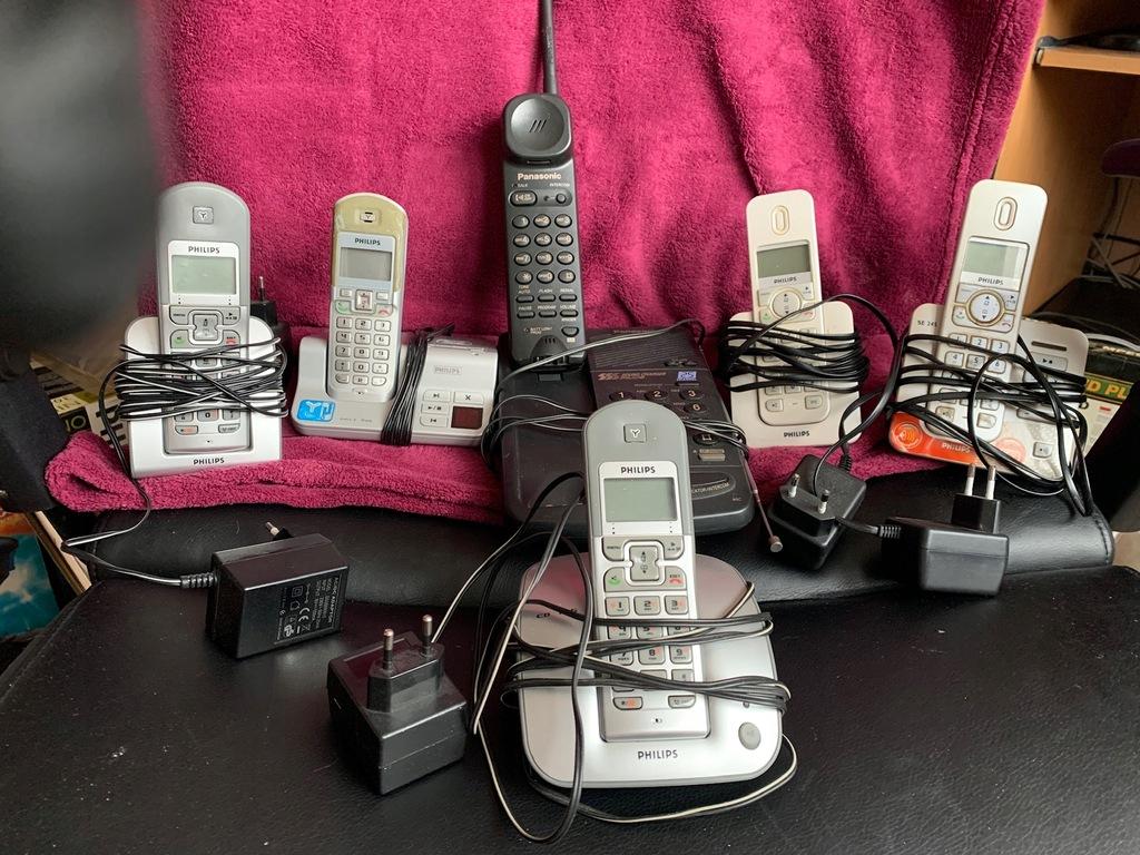 6 BEZPRZEWODOWYCH TELEFONÓW PHILIPS PANASONIC BCM