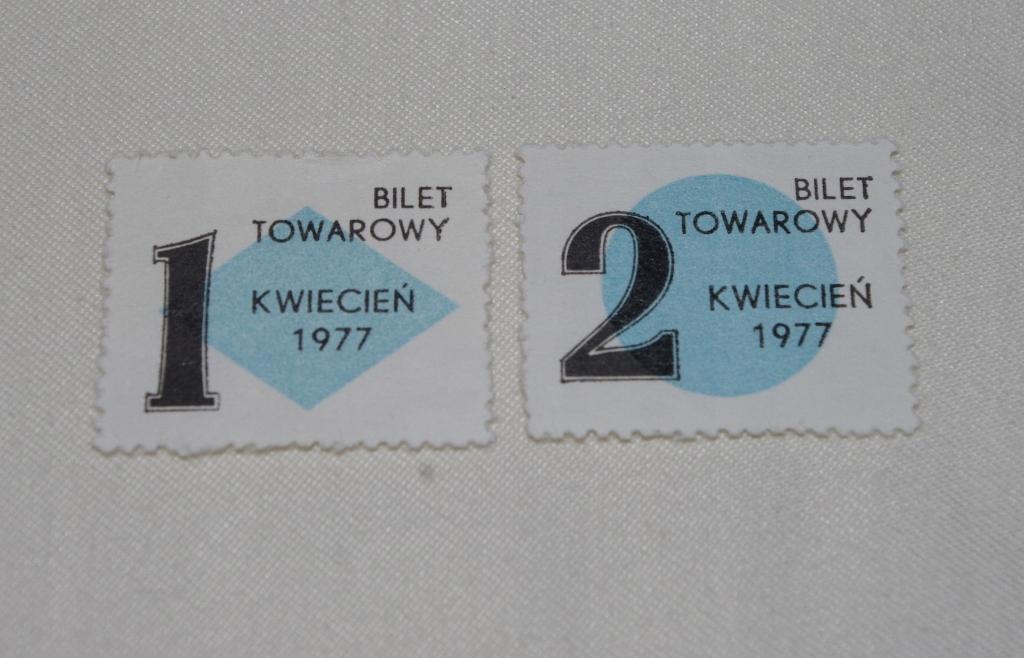 KARTKI NA CUKIER IV 1977r