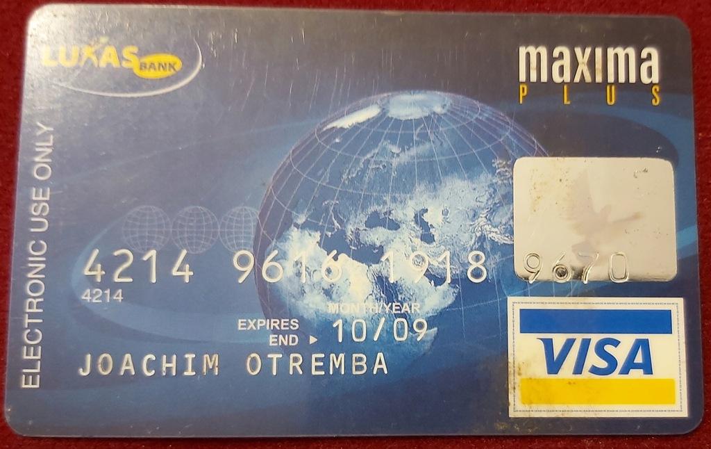 Karta VISA maksima PLUS LUKAS Bank