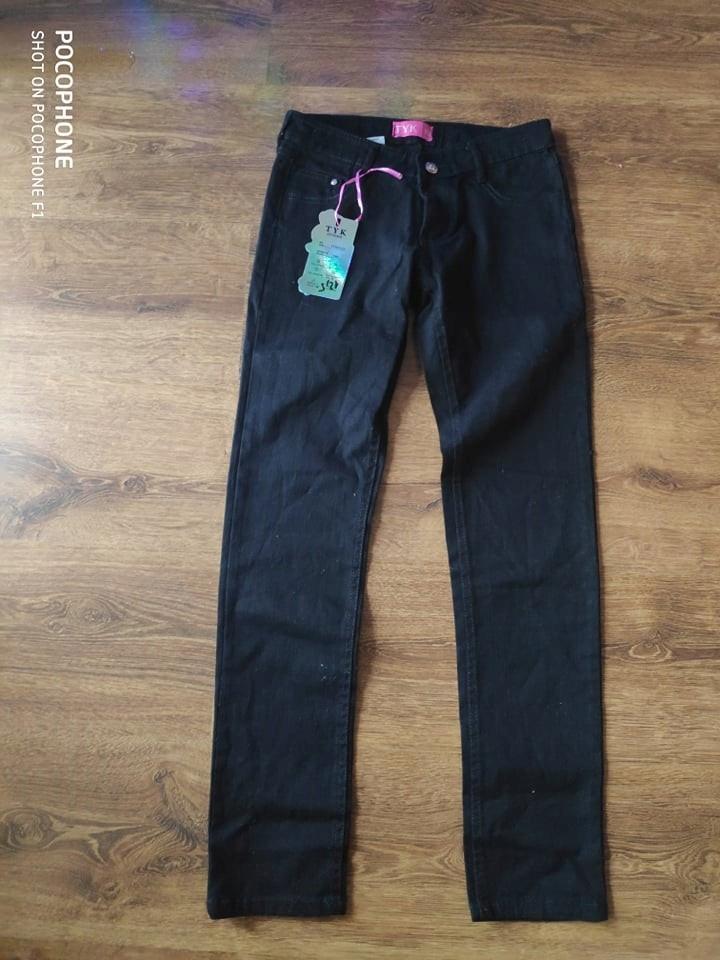 Nowe spodnie jeansy czarne Rozm.146