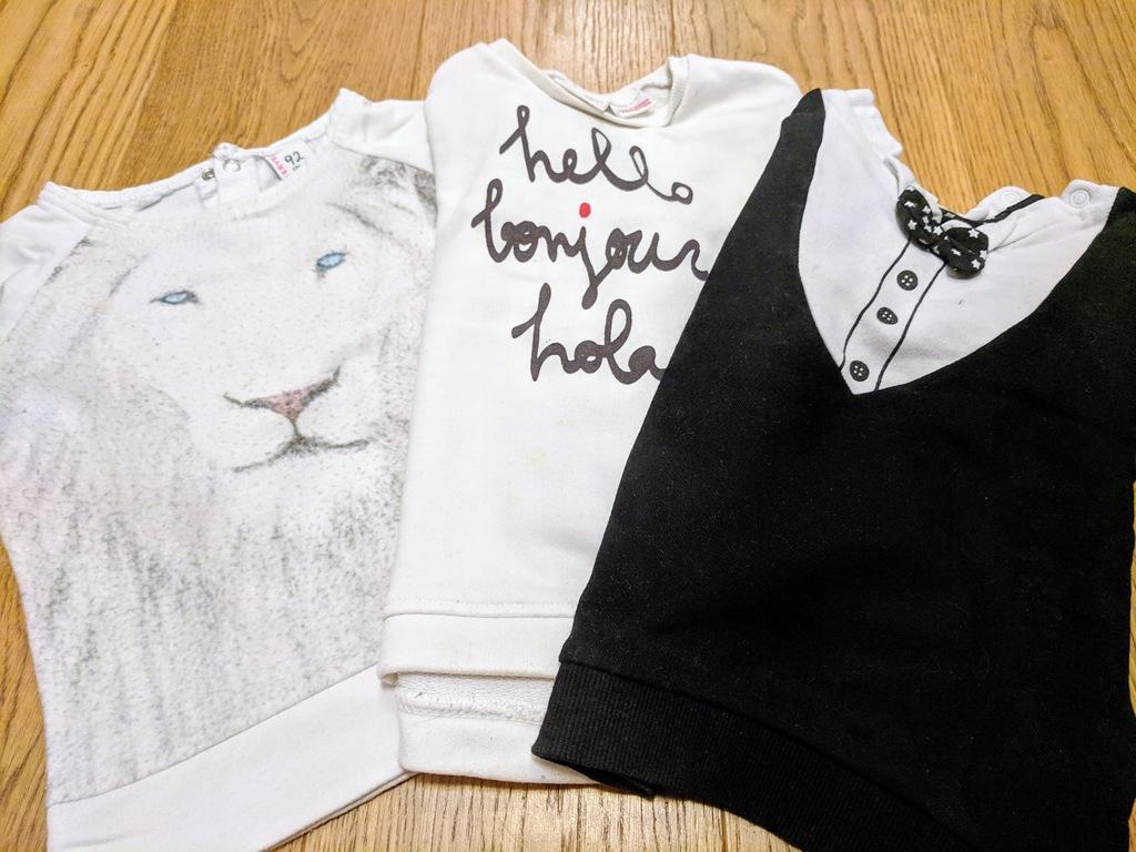 3 bluzki Zara, Reserved, H&M rozm. 86, 92 i 98