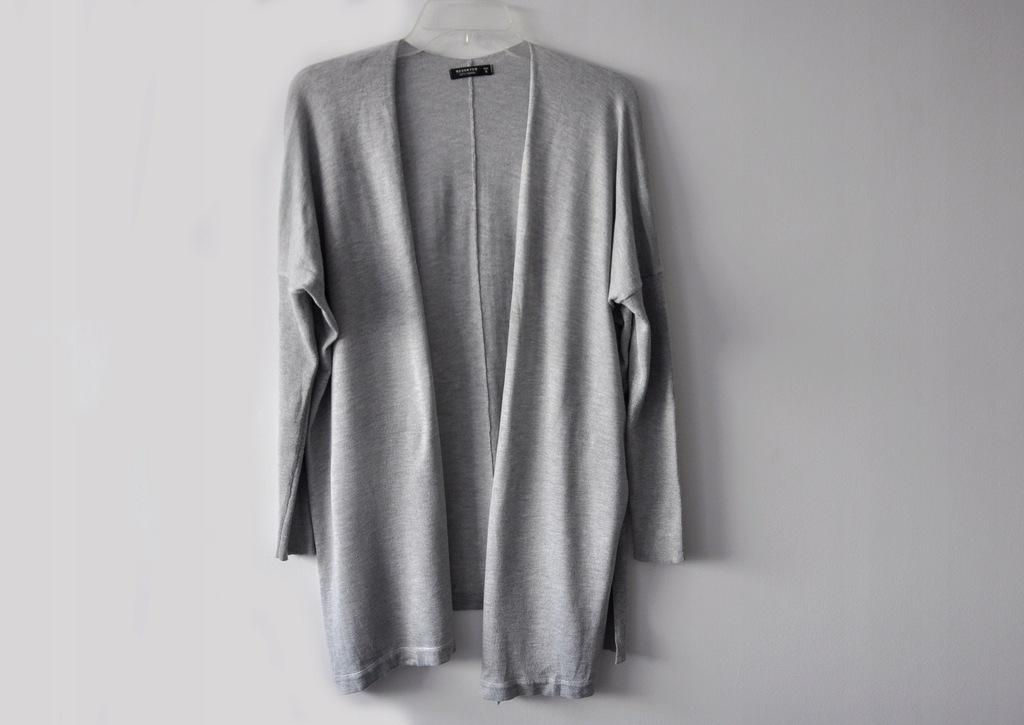 RESERVED szary sweter kardigan narzutka S/36 %%