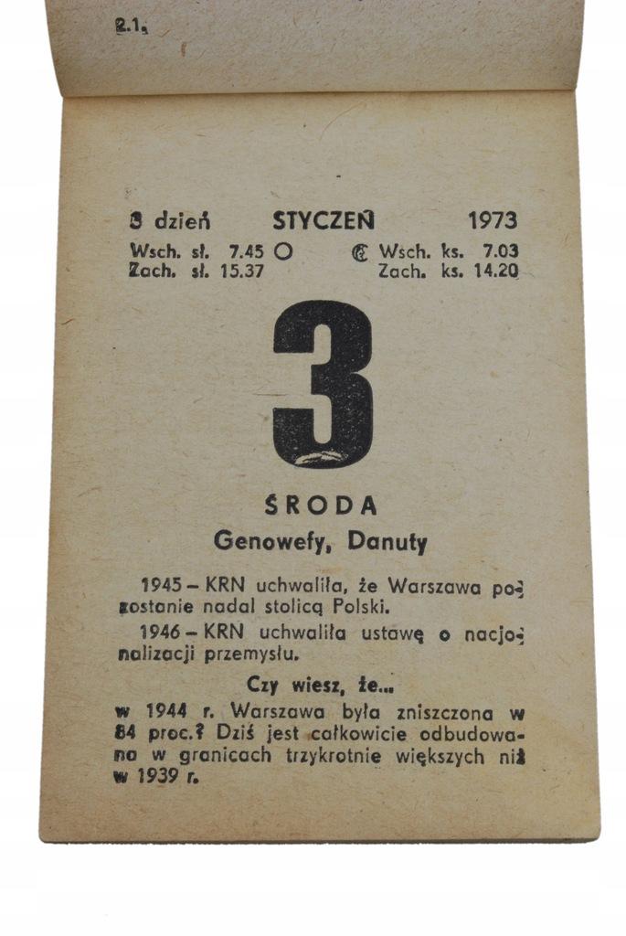 47 urodziny PREZENT kartka kalendarz zdzierak 1973