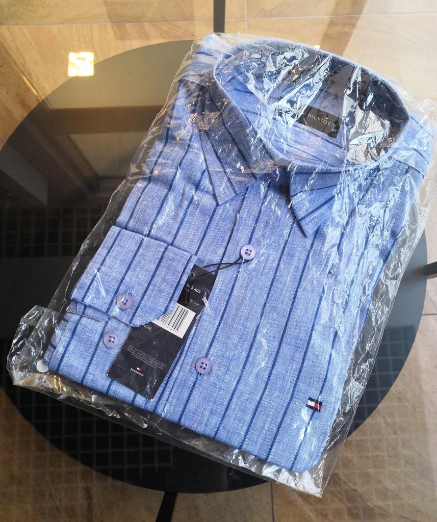 Koszula męska w paski Tommy Hilfiger - M - NOWA