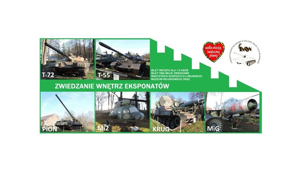 Zwiedzaj wnętrza eksponatów w muzeum wojskowym