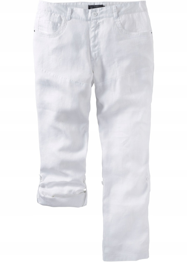 OKAZJA! Bonprix lniane spodnie męskie bpc r 28