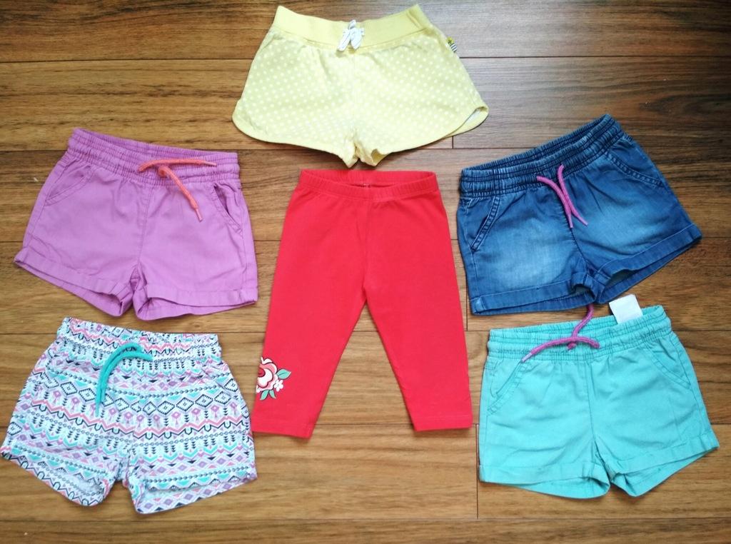 Sliczne spodenki na lato 5 sztuk + gratis legginsy