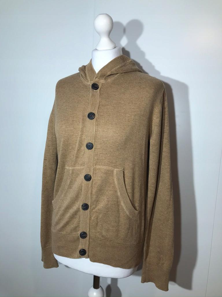 Sweter H&M S brązowy kaptur rozpinany