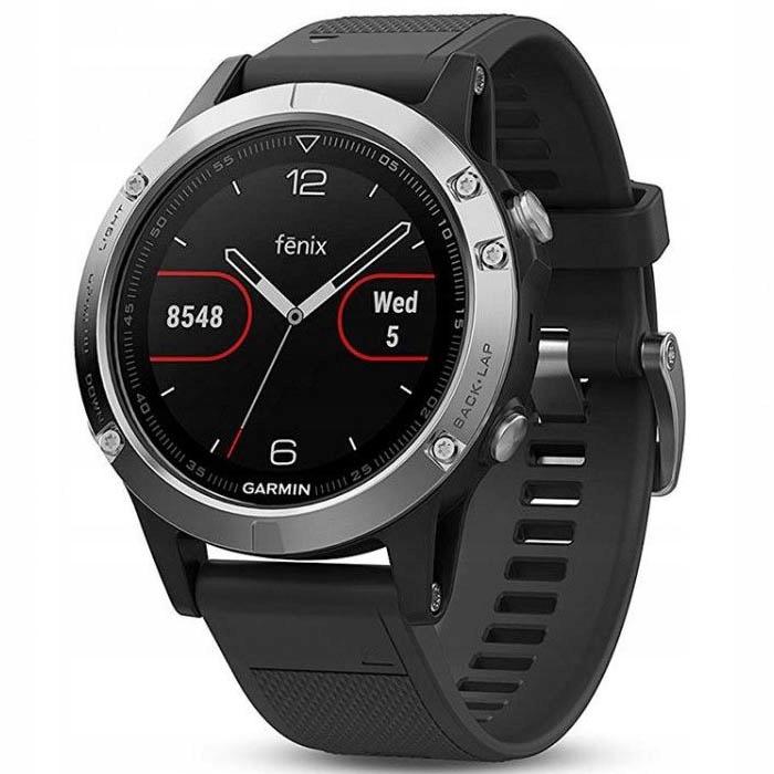 Zegarek sportowy Garmin Fenix 5 (black-sliver)
