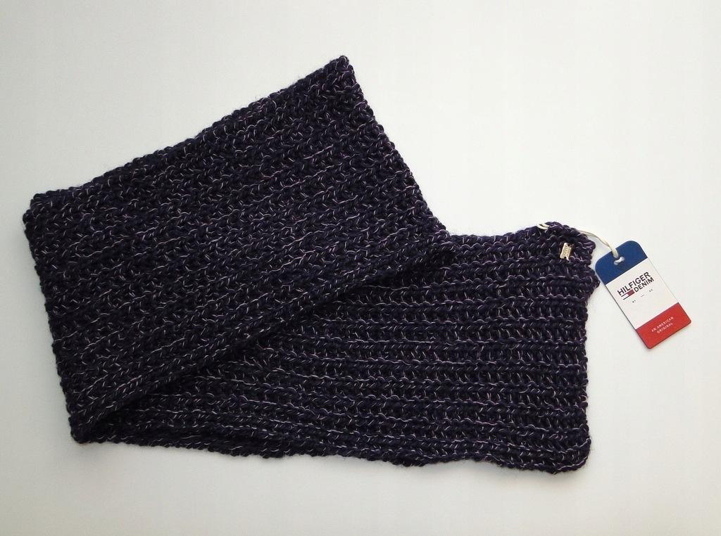 Szalik TOMMY HILFIGER Knited Hand Knit 190 cm Szal