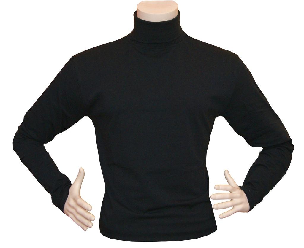 Golf męski bawełniany Sweter Rozmiar M granatowy