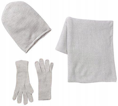 Czapka,rękawiczki i komin ZESTAW, SZARY