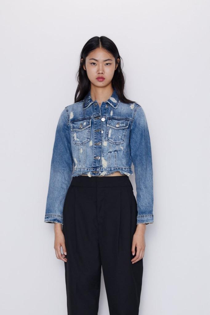 Zara krótka kurtka jeansowa XS 34