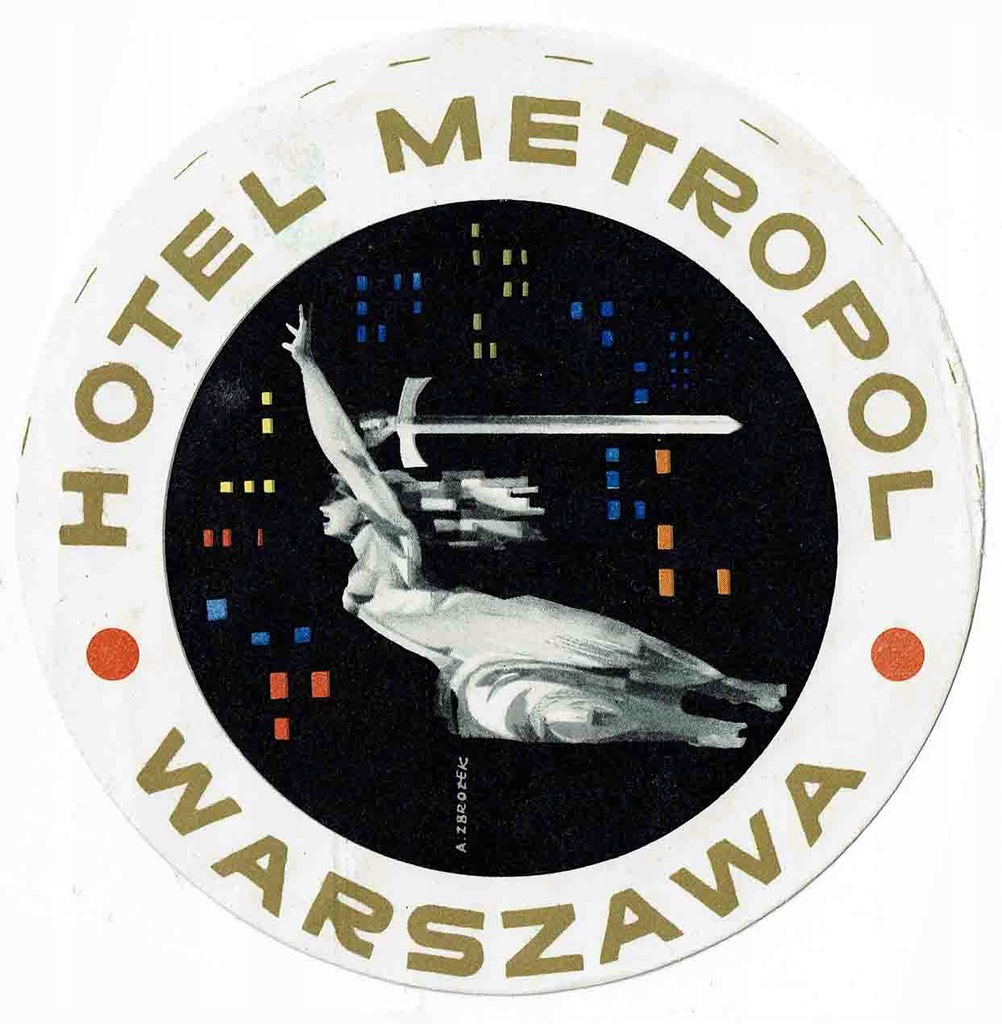 Naklejka turystyczna hotel Metropol Warszawa