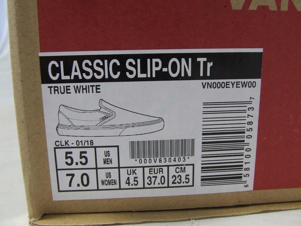 VANS Classic Slip On Tr White VN000EYEW00 Roz.37