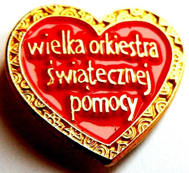 SUPER PIĘKNE SERDUSZKO WOŚP - NOWE Z PRZYPINKĄ !!!