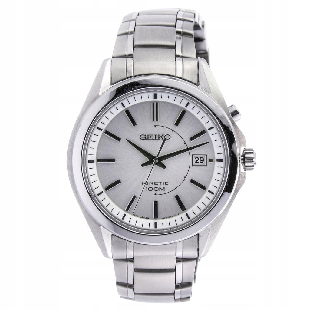 Zegarek SEIKO SKA519P1 męski srebrny kinetyczny
