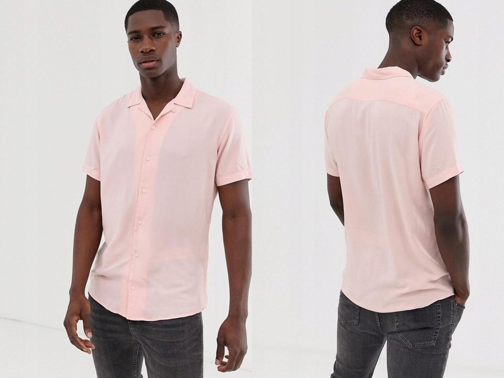 Jack & Jones Różowa koszula męska M