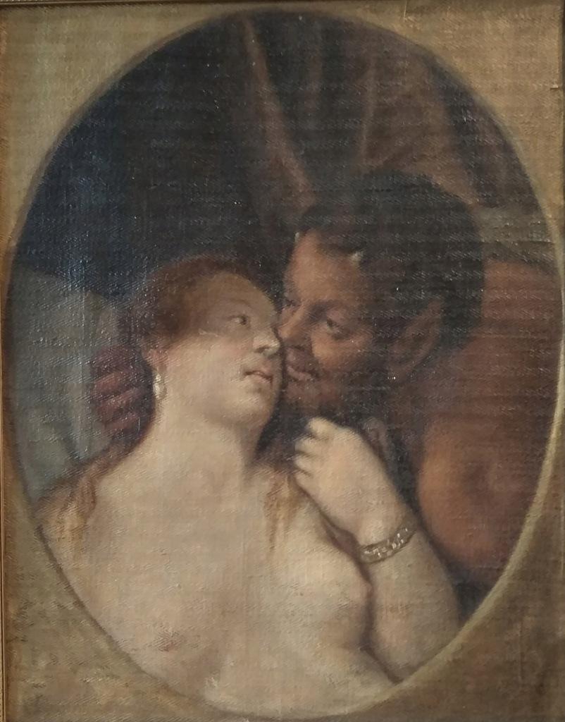Faun i kobieta - olej - Marian Strzembosz 1906 r