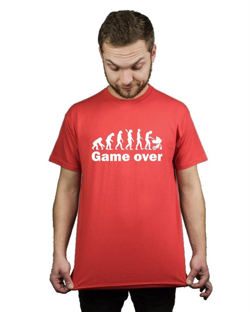 Koszulka męska GAME OVER JESTEM TATĄ XL