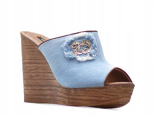 Klapki Vices 4093-12 Niebieskie Jeans_40 Arturo