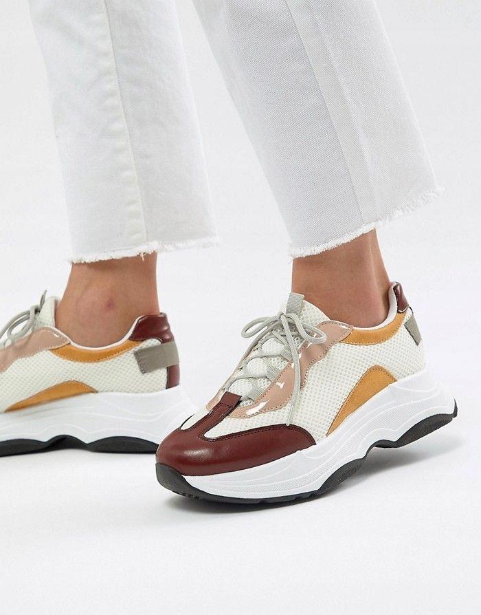 ASO DESIGN Kolorowe buty gruba podeszwa (39)