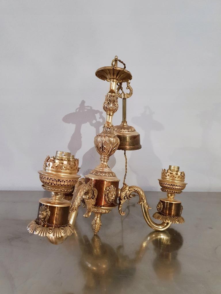 Pałacowa Lampa Wiszaca - Mosiadz