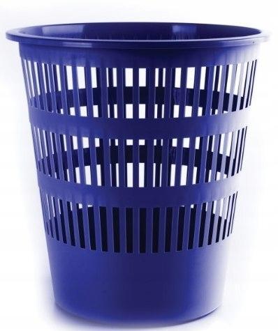 Kosz na śmieci ażurowy niebieski plastik 12l.
