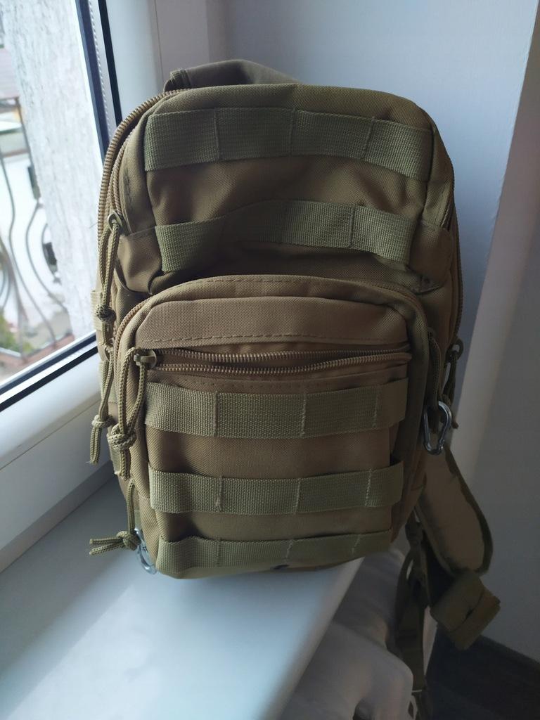 Plecak na jedno ramię militarny wojskowy survival